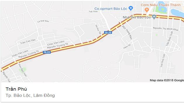 Bán Căn Nhà Mặt Tiền ĐườngTrần Phú Bảo Lộc