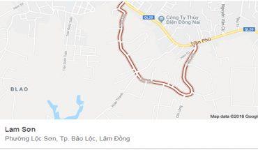 Bán Lô Đất Hẻm 115 Đường Lam Sơn Bảo Lộc